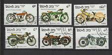 moto 1985  Laos 6 timbres oblitérés  / T1439