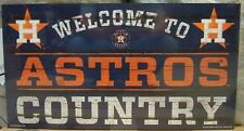 """HOUSTON ASTROS WELCOME TO ASTROS COUNTRY WOOD SIGN 13""""X24'' BRAND NEW WINCRAFT"""