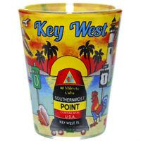 KEY WEST FLORIDA SUNSET SHOT GLASS SHOTGLASS