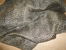 CROSCILL CHEETAH LEOPARD SEMI SHEER BLACK BROWN (PAIR) PANELS POLYESTER 58 X 82