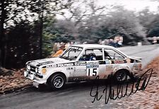 Ari Vatanen SIGNED,12x8  Ford Escort RS1800  Lombard RAC Rally 1977