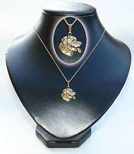 Kettenanhänger vergoldet Hunde Rottweiler [k057]