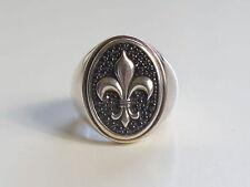 Designer Thomas Sabo Fleur de lis Sterling Silver Ring Biker Motorcycle Style