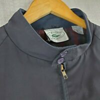 VTG IZOD LACOSTE Size XL Mens Cotton/Poly Plaid Lined Bomber Harrington Jacket