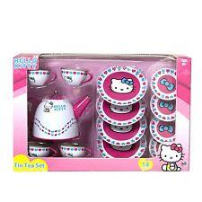 Hello Kitty Tin Tea Party Set New Play Pretend Kids Children Toys Gift Cute Fun