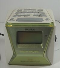 Sony Green Dream Machine LIV FM/AM Alarm Clock Radio ICF-C143 Tested Works EUC