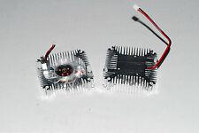 2pcs Aluminum Heatsink with fan for 5W/10W High Power LED Cooling DC12V  A269 US