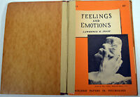 Vintage 1954 Book Feeling And Emotions Human Development Child Psychology
