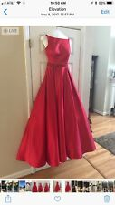 Sherri Hill 2017 Prom/Pageant Dress:Size 4, Color-Red and Great Condition
