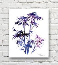 Bamboo Abstract Watercolor 11 x 14 Art Print by Artist DJR