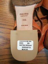 MIU MIU MIUMIU Brand New Vero Cuoio Made In Italy Shoes 38.5
