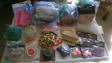 Grab Bag Craft Closet 2 Large Bags Assorted Sewing Crafting Crepe MORE (C) # E