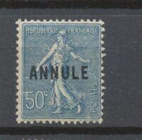 Cours d'instruction - Semeuse lignée N°161-CI 2, 50c bleu NEUF* COTE 77€ P1348