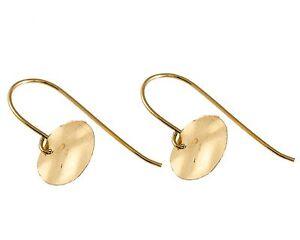 Yellow 14k Gold Filled HOOK Earrings WOMEN'S GEOMETRIC