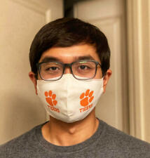 NEW WASHABLE, ANTIMICROBIAL COTTON FACE MASK WITH PRINTED NCAA COLLEGE TEAM
