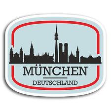 2 x 10cm Munich Munchen Germany Vinyl Stickers - Sticker Laptop Luggage #19564