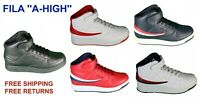"""Mens Fila """"A-High"""" Leather Sneaker Casual Athletic Basketball Shoes"""