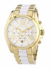 Michael Kors Bradshaw Gold White Chronograph 43mm Steel MK5743 Watch