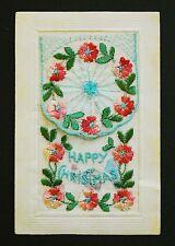 WW1 Silk Postcard Xmas Southedge Close House Hipperholme Halifax Yorkshire HX3