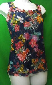 NEW HANKY PANKY 5N4252 SIGNATURE FLORAL MADE IN USA LACE CAMISOLE M