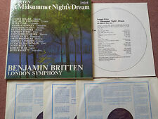 DECCA SET 338-40  *BRITTEN* MIDSUMMERS NIGHT'S DREAM 3LP