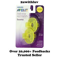 PHILIPS AVENT NEWBORN BABY SOOTHIE PACIFIER 0 - 3 MONTHS YELLOW PACK OF 2