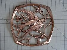 SYROCO WOOD BIRDS GOLD WALL HANGING