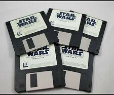 "Star Wars Screen Entertainment IBM 3.5"" floppy disks PC 1994 Vintage"