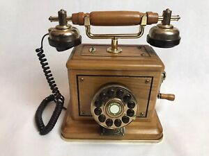 Wooden Retro Telephone Daklin Museum Series 1999