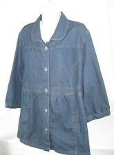 MOTHERHOOD Dark Wash 3/4 Sleeve Denim Jean Maternity Jacket * Size XLarge