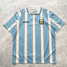 VINTAGE ADIDAS ARGENTINA 1995 1996 HOME FOOTBALL SOCCER SHIRT JERSEY SZ 40  42