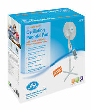 "Genuine Prem-i-Air White 16"" Pedestal Cold Air Fan with Remote Control & Timer"