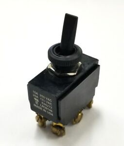 NEW Philmore 30-166 DPDT ON-ON Nylon Toggle Switch 20A @ 125V AC, 10A @ 250V AC