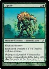 LIGNIFY Lorwyn MTG Green Tribal Enchantment — Treefolk Aura Com