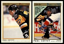 PAUL COFFEY OPC PREMIER LOT x2 | 1990-91 #16 | 1991-92 #79 | Pittsburgh Penguins