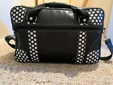 PAUL FRANK Black & White Naugahyde Vinyl Travelling Bag