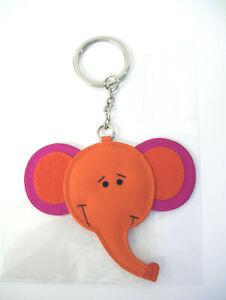 NEW Jim Thompson Signed Backpack Purse Luggage Charm Keyring Elephant Face