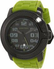 Glam Rock Sobe-Tech Men's Watch Black Green Silicone Swiss Quartz GR33001 NEW