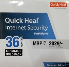 Quick Heal Internet Security 1 User  3 Year Renewal  Upgrade 1PC 3 Yr.