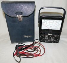 Simpson 260 Series 7 Analog Multimeter Volt Ohm Meter With Cables Amp Case Nice