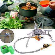 Outdoor Camp Hiking Picnic Gas Stove Furnace Split Burner Cookout Portable