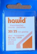 HAWID STAMP MOUNTS CLEAR Pack of 50 Individual 30mm x 35mm - Ref. No. 73035