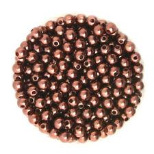 Lot 50 Perle imitation 6mm Marron Pour vos creation Bijoux, Collier, Bracelet ..