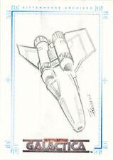 The Complete Battlestar Galactica Eduardo Pansica Sketch a Fex - Colonial Viper