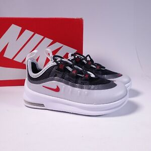 Size 6 Toddler Kid's Nike Air Max Axis TD Sneakers AH5224-009 White/Sport Red