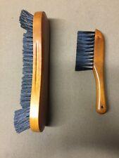 "10.5"" Honey Horse Hair Pool Table Brush & Rail Brush Combo"