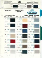 1988 VOLVO PAINT CHIPS (DUPONT AND PPG)