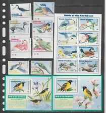Grenada Grenadines 1995 birds set+klb+2s/s MNH