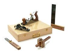 Faithfull FAICARPSET 5 piece carpenters tool kit set in quality wooden case
