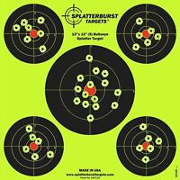 "Shooting Targets 12"" Reactive Splatter Glow Shot Rifle Florescent Paper Target"